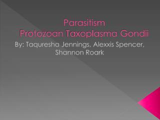 Parasitism Protozoan Taxoplasma Gondii