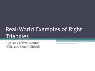 Real-World Examples of Right Triangles