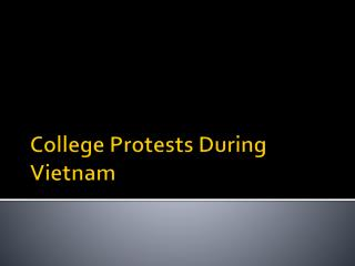 College Protests During Vietnam
