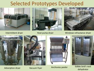 Selected Prototypes Developed