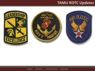 TAMU ROTC Updates