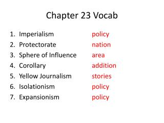 Chapter 23  Vocab