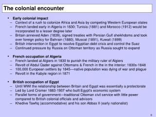 The colonial encounter