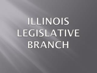 Illinois Legislative Branch