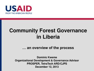 Community Forest Governance  in Liberia