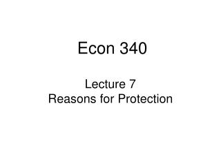 Lecture 7 Reasons for Protection