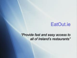 EatOut.ie