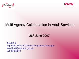 Multi Agency Collaboration in Adult Services