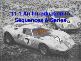 11.1 An Introduction to Sequences & Series