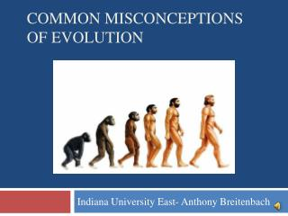 Common misconceptions of evolution