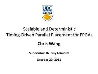 Scalable and Deterministic Timing-Driven Parallel Placement for FPGAs