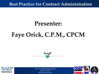 Best Practice for Contract Administration
