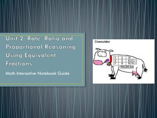 Unit 2: Rate, Ratio and Proportional Reasoning Using Equivalent Fractions