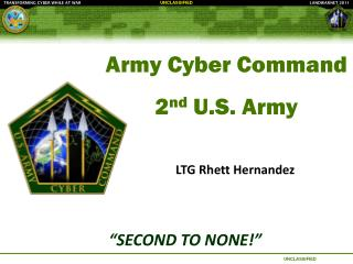 Army Cyber  Command 2 nd  U.S. Army