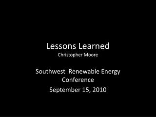 Lessons Learned Christopher Moore