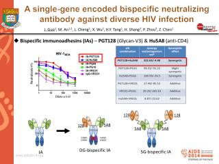 A single-gene encoded  bispecific  neutralizing antibody against diverse HIV infection