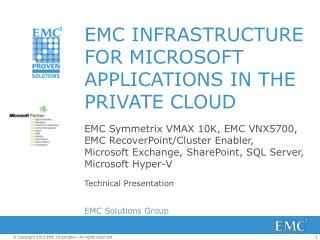 EMC Infrastructure for Microsoft Applications in the Private Cloud
