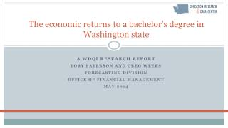 The economic returns to a bachelor's degree in Washington state