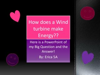 How does a Wind turbine make Energy??