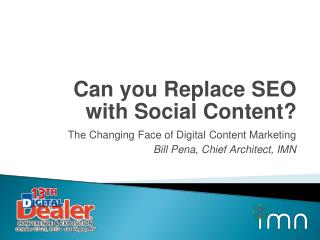 Can you Replace SEO with Social Content ?