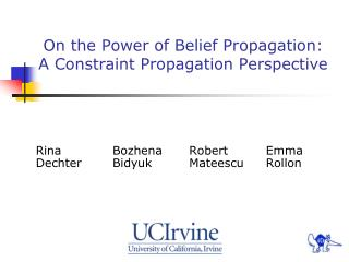 On the Power of Belief Propagation: A Constraint Propagation Perspective