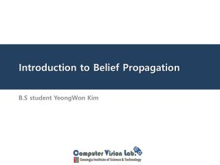 Introduction to Belief Propagation