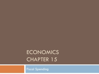 Chapter 15: Public Goods and Tax Policy