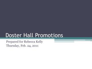Doster Hall Promotions