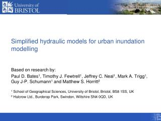 Simplified hydraulic models for urban inundation modelling