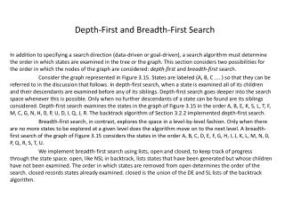 Depth-First and Breadth-First Search