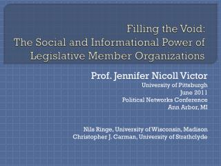 Filling the Void:  The Social and Informational Power of Legislative Member Organizations