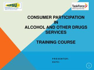 Consumer Participation  in  Alcohol and Other Drugs Services  Training Course