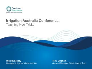 Irrigation Australia Conference Teaching New Tricks