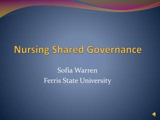 Nursing Shared Governance
