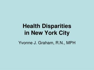 Health Disparities in New York City
