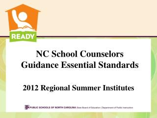 NC School Counselors Guidance Essential Standards