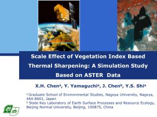 Scale Effect of Vegetation Index Based Thermal Sharpening: A Simulation Study Based on ASTER  Data