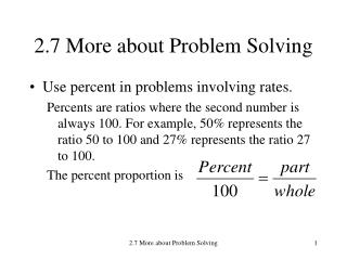 2.7 More about Problem Solving