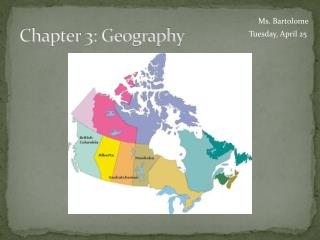 Chapter 3: Geography