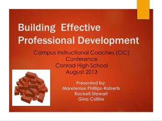 Building  Effective Professional Development