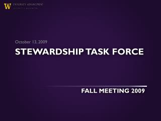 Stewardship task force