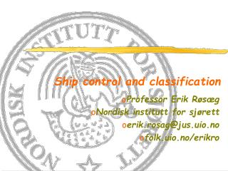 Ship control and classification