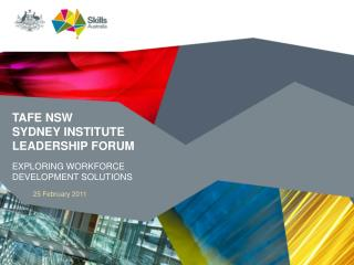 TAFE NSW  SYDNEY INSTITUTE LEADERSHIP FORUM