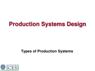 Production Systems Design