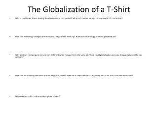 The Globalization of a T-Shirt