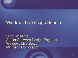 Windows Live Image Search