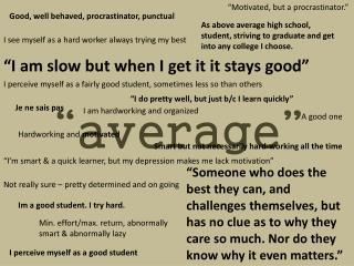 """""""average"""""""