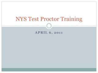 NYS Test Proctor Training