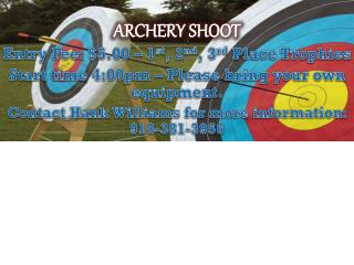 ARCHERY SHOOT