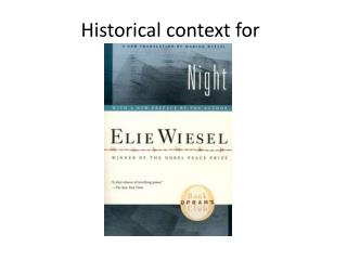 an analysis of the novel night by elie wiesel